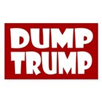 Red Dump Trump -- Anti-Trump Sticker