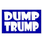 Dump Trump -- Blue Anti-Trump Bumpersticker