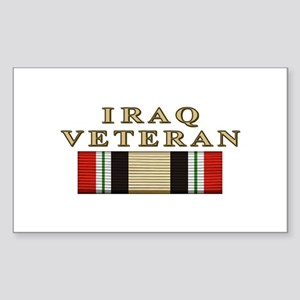 Iraq Vet Rectangle Sticker