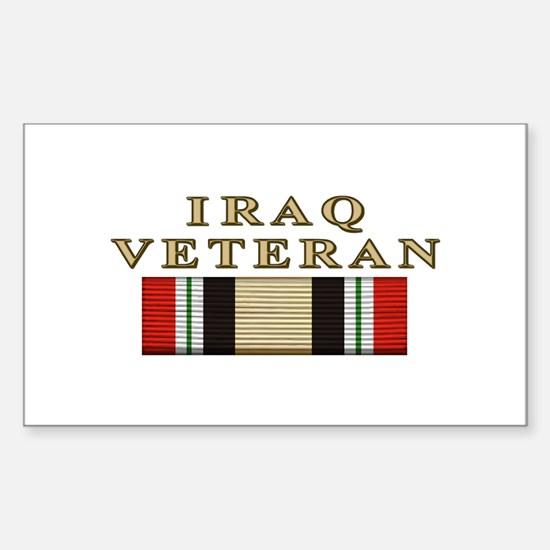 Iraq Vet Rectangle Decal