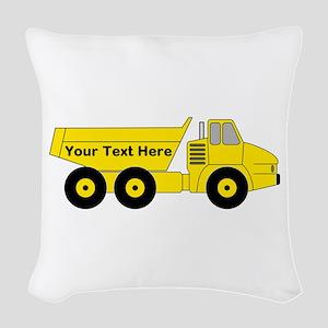 Personalized Dump Truck Woven Throw Pillow