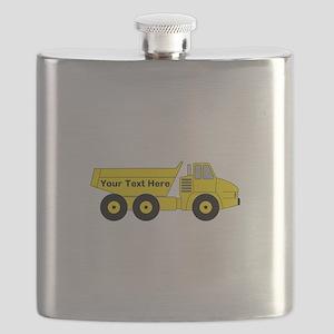Personalized Dump Truck Flask