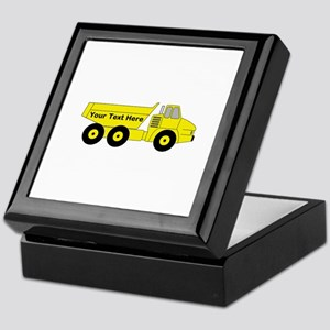 Personalized Dump Truck Keepsake Box