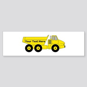 Personalized Dump Truck Sticker (Bumper)