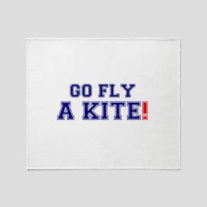 GO FLY A KITE! Throw Blanket