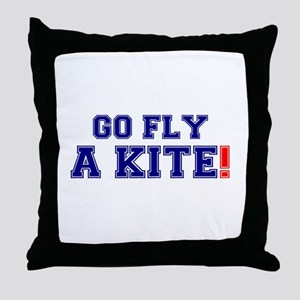 GO FLY A KITE! Throw Pillow