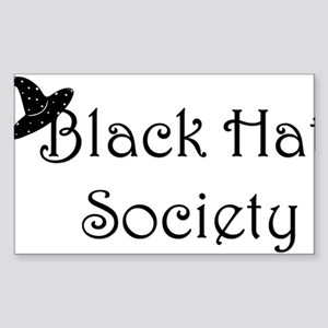 Black Hat Society Rectangle Sticker