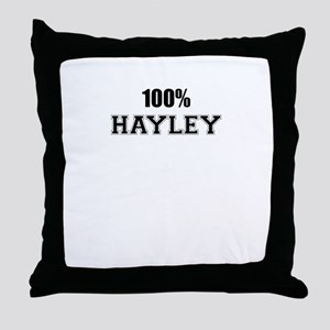 100% HAYLEY Throw Pillow