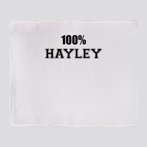 100% HAYLEY Throw Blanket