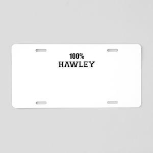 100% HAWLEY Aluminum License Plate