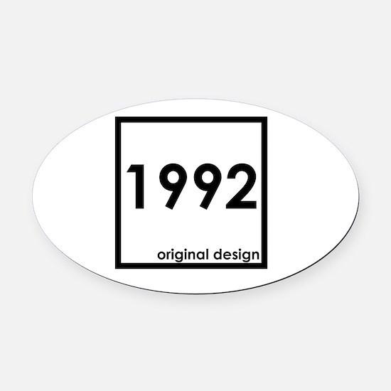Unique 1992 Oval Car Magnet