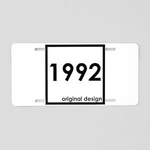 1992 birthday age year born Aluminum License Plate