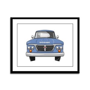 1965 Dodge Truck Framed Panel Print
