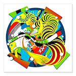 Design 160325 Square Car Magnet 3