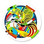 Design 160325 Round Car Magnet