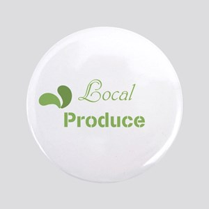 Green Eco Local Produce Logo Button