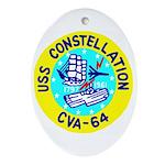USS Constellation (CVA 64) Oval Ornament