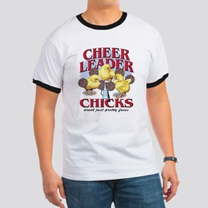 Cheerleader Chicks Ringer T