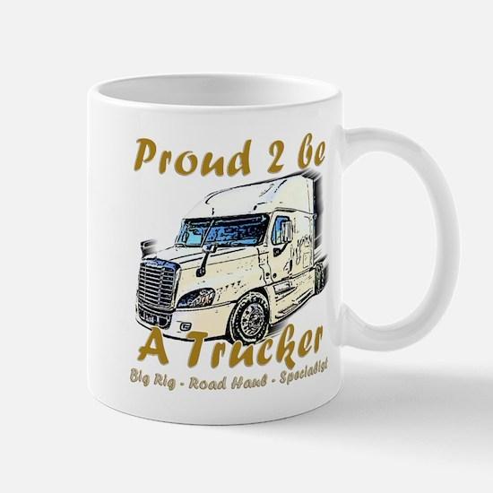 Proud To Be A Trucker Mugs