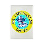 USS Constellation (CVA 64) Rectangle Magnet (100 p