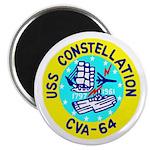 "USS Constellation (CVA 64) 2.25"" Magnet (10 pack)"