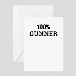 100% GUNNER Greeting Cards