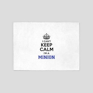 I cant keep calm Im MINION 5'x7'Area Rug