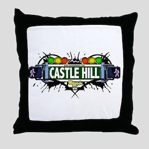 Castle Hill (White) Throw Pillow