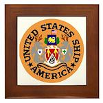 USS America (CVA 66) Framed Tile