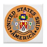 USS America (CVA 66) Tile Coaster