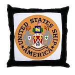 USS America (CVA 66) Throw Pillow