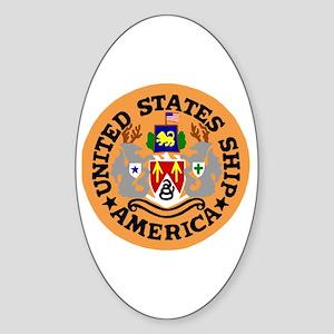 USS America (CVA 66) Oval Sticker
