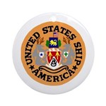 USS America (CVA 66) Ornament (Round)