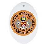 USS America (CVA 66) Oval Ornament