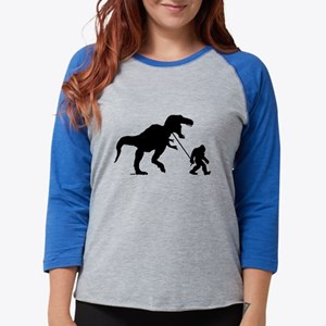 Gone Squatchin with T-rex Long Sleeve T-Shirt