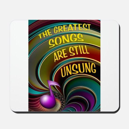 UNSUNG SONGS Mousepad