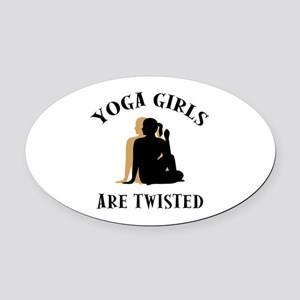 yoga124light Oval Car Magnet