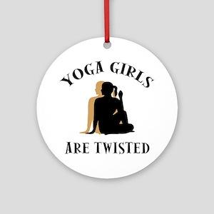 yoga124light Round Ornament