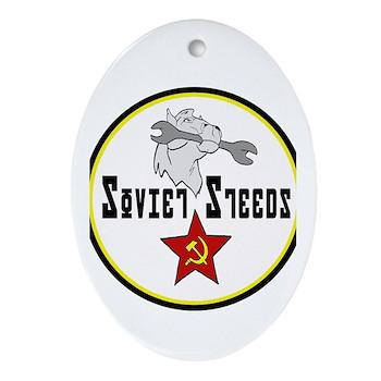 Soviet Steeds Oval Ornament