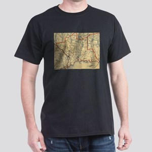 Vintage Map of New Haven County CT (1846) T-Shirt