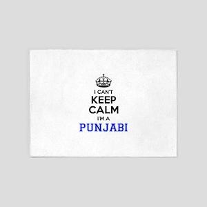 I cant keep calm Im PUNJABI 5'x7'Area Rug