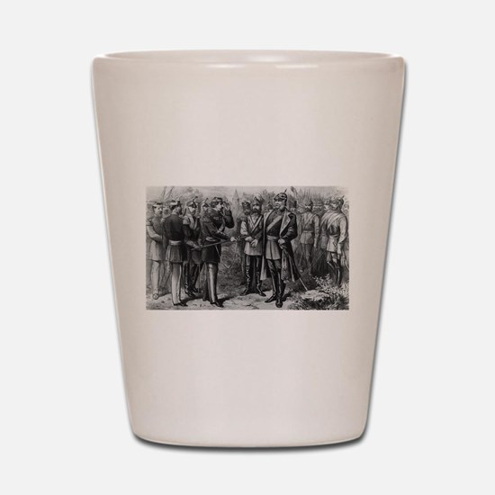 napolean and kaiser Shot Glass