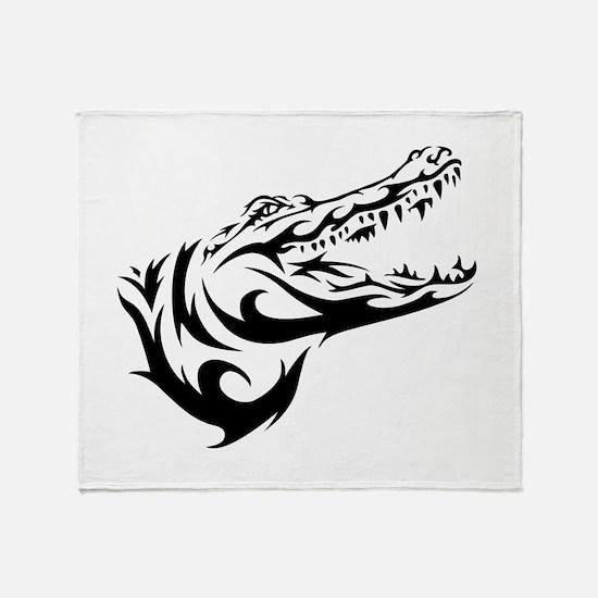 Alligator Head Throw Blanket