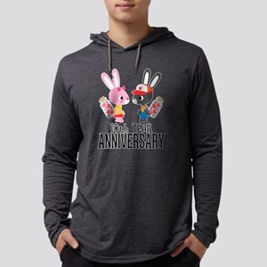 10th Anniversary Couple Bunnies Long Sleeve T-Shir