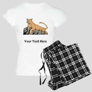 Cougar Laying On Rock (Custom) Pajamas