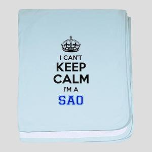 I cant keep calm Im SAAB baby blanket