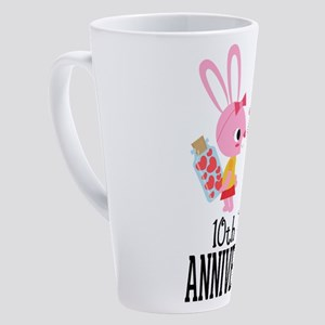 10th Anniversary Couple Bunnies 17 Oz Latte Mug