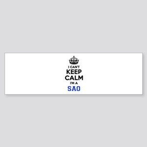 I cant keep calm Im SAAB Bumper Sticker
