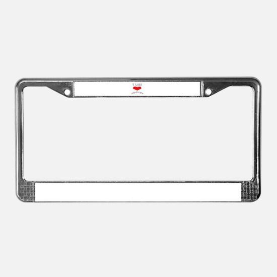 I love Hockey Games License Plate Frame