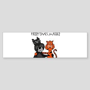 Dog and Cat Love Bumper Sticker